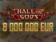 Игровой автомат Умопомрачительный главный приз 6000 000 долларов в слоте Hall Of Gods