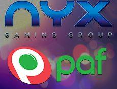Игровой автомат NYX и Paf  заявили о сотрудничестве